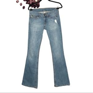 Grass Collection Distressed Topanga Flare Jeans